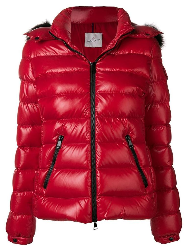 Moncler zipped padded jacket - Red
