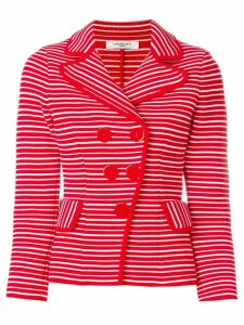 Charlott off-centre button jacket - Red