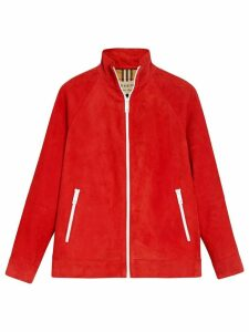 Burberry Suede Tracksuit Jacket - Red