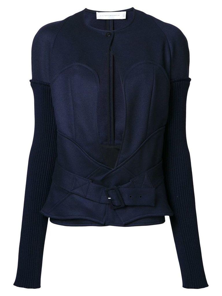Victoria Beckham longsleeve bustier jacket - Blue