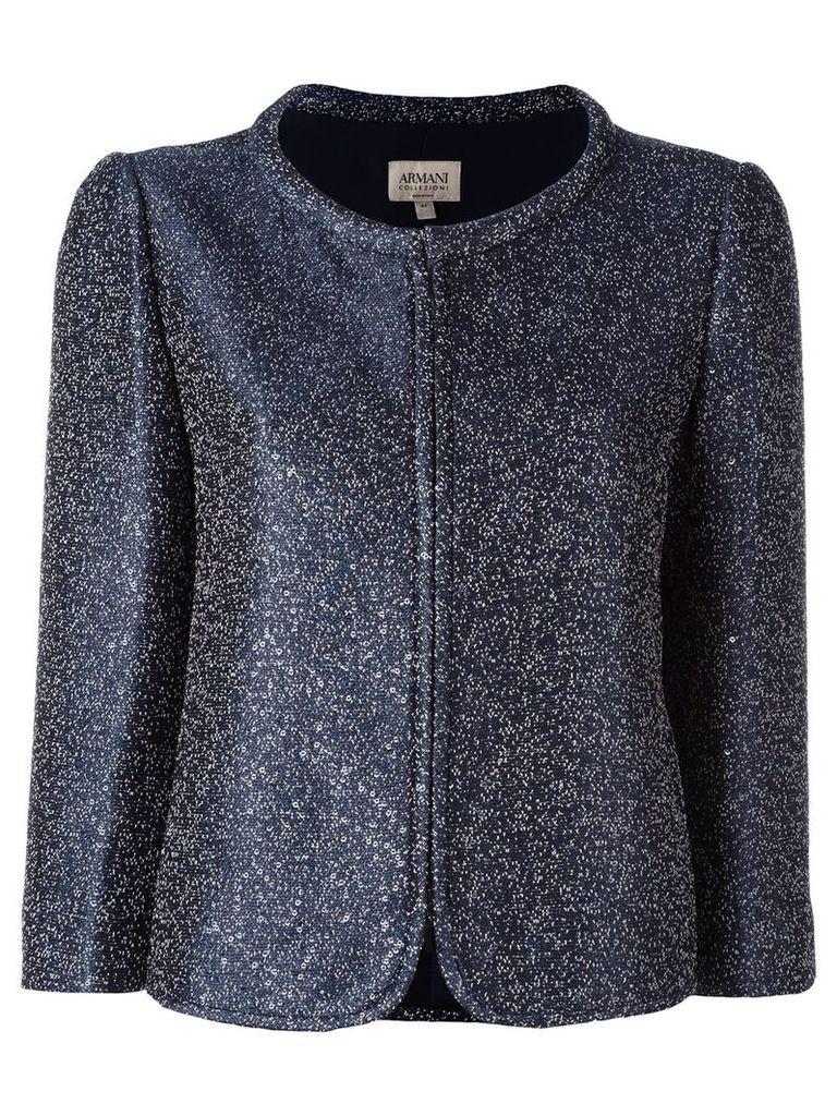 Armani Collezioni glitter jacket - Blue