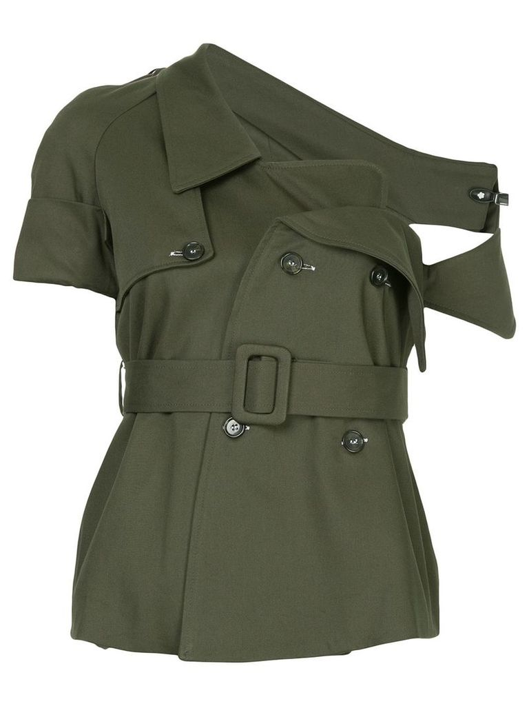 Monographie deconstructed trench jacket - Green