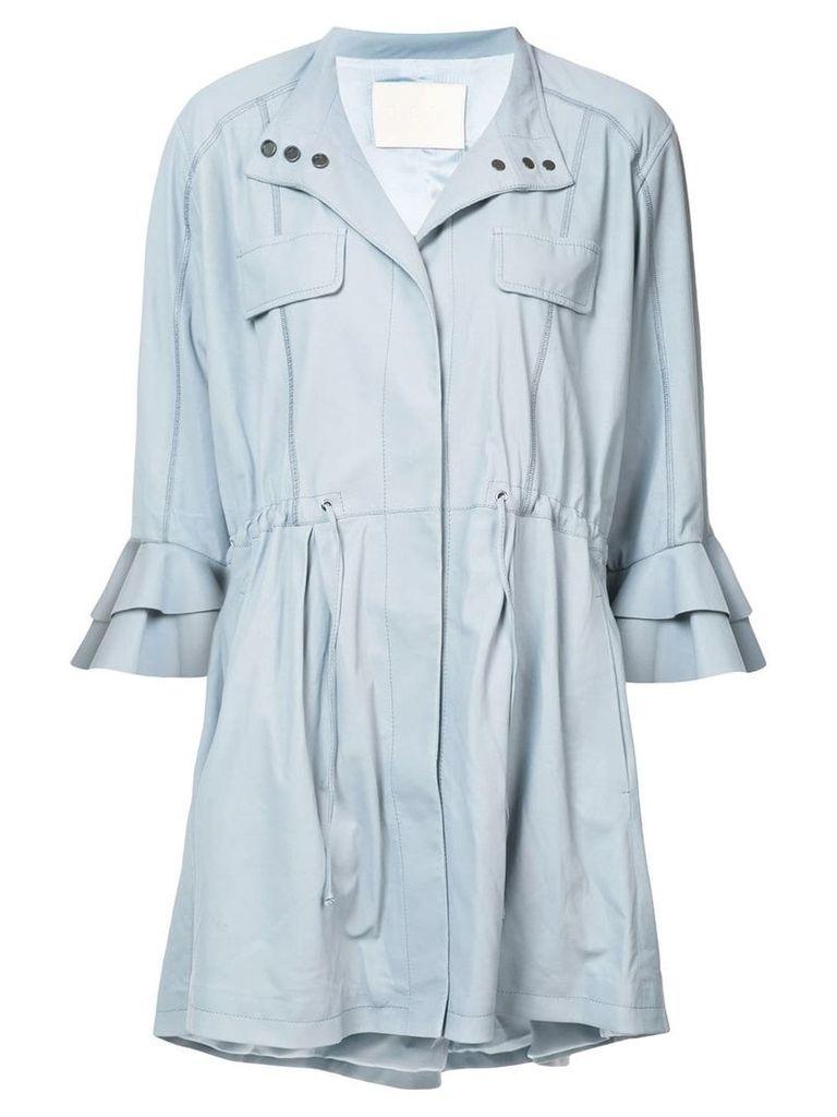 Drome cropped sleeved jacket - Blue
