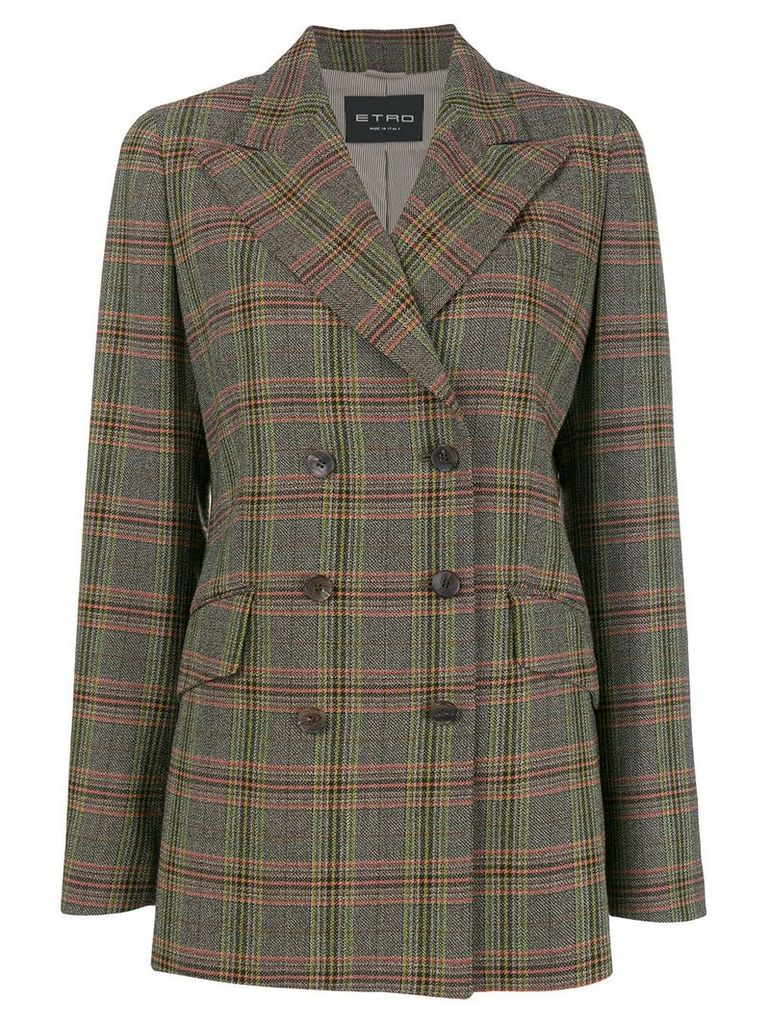 Etro checked jacket - Brown