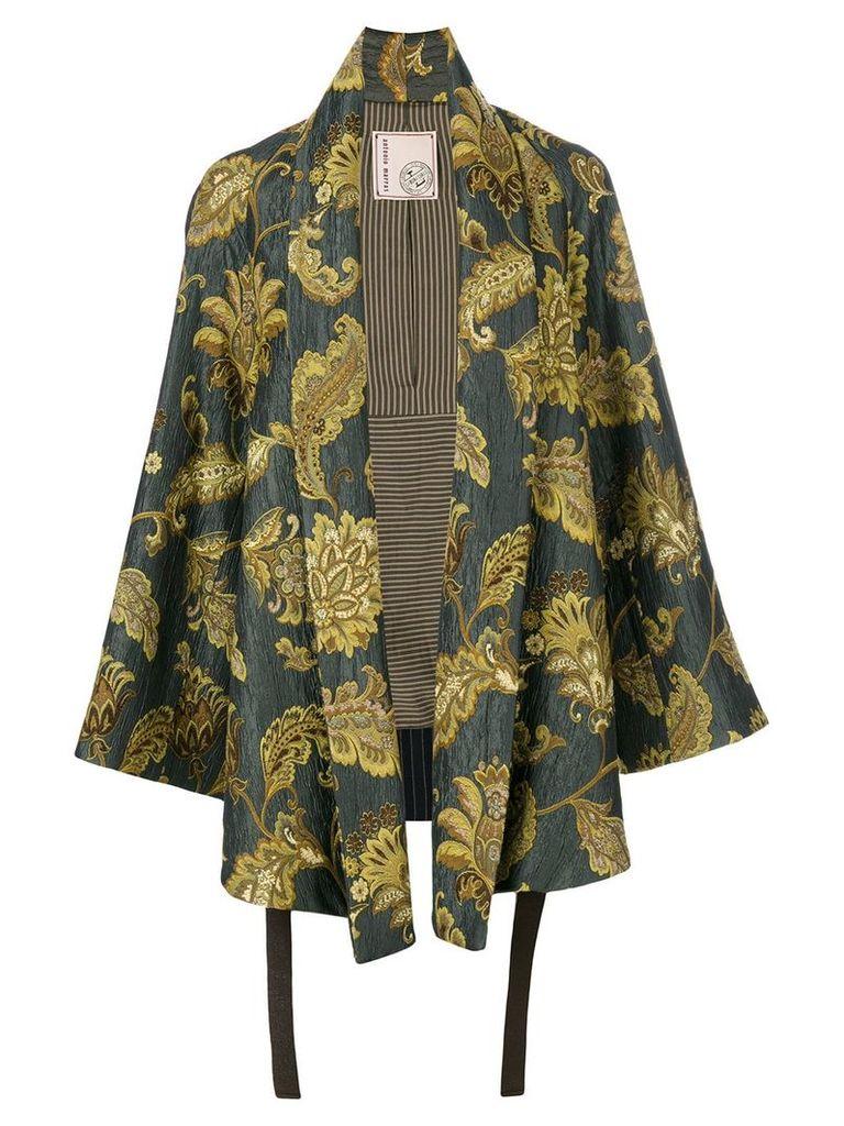 Antonio Marras leaves print kimono jacket - Multicolour
