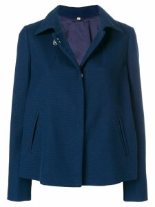 Fay classic collar button jacket - Blue