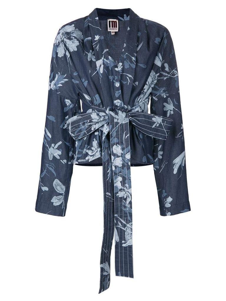 I'M Isola Marras belted floral print jacket - Blue