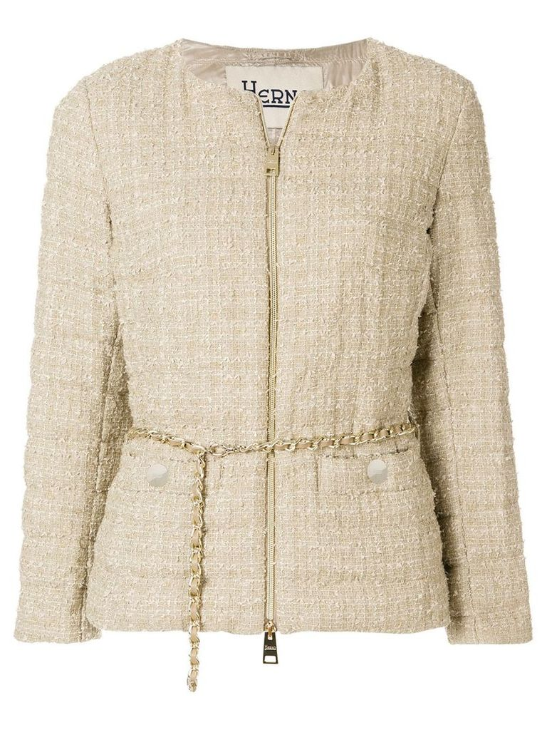 Herno zip up padded jacket - Nude & Neutrals