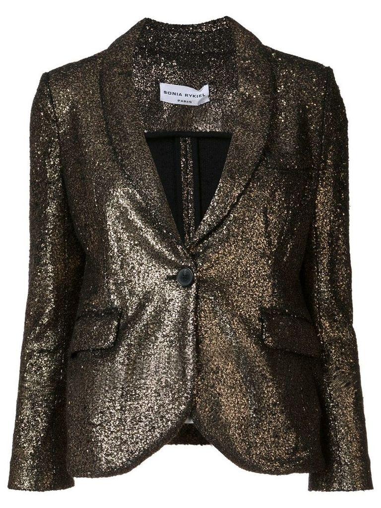 Sonia Rykiel single breasted fitted jacket - Metallic