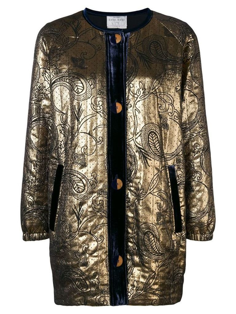 Forte Forte embroidered fitted jacket - Metallic