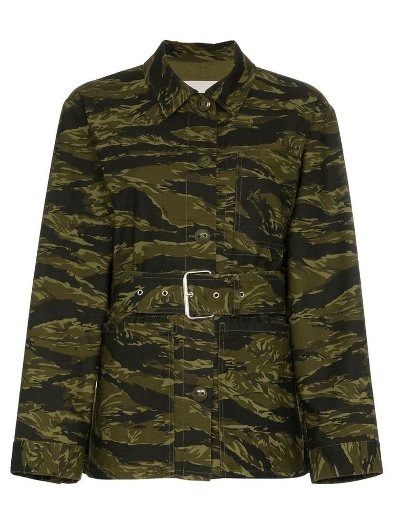 Proenza Schouler long sleeve camouflage jacket - Green