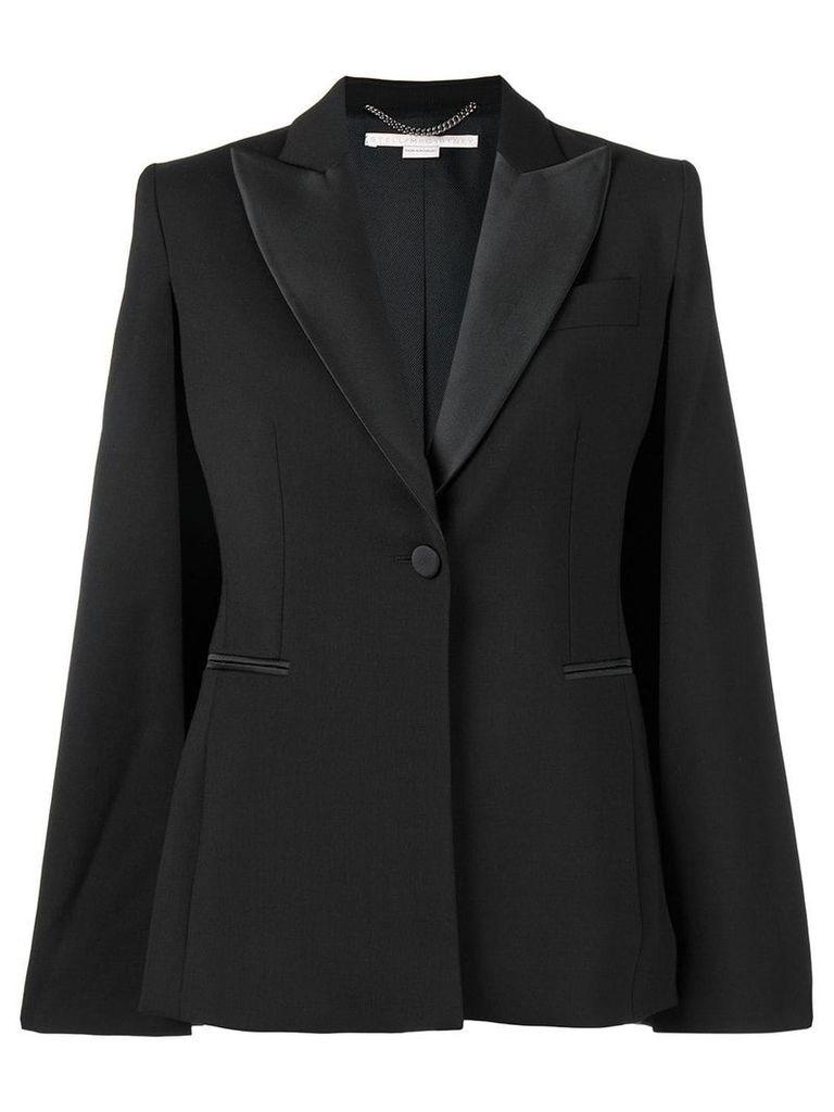 Stella McCartney slit sleeve tuxedo jacket - Black