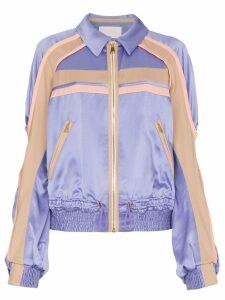 Peter Pilotto Silk Contrast Cady Jacket - Purple