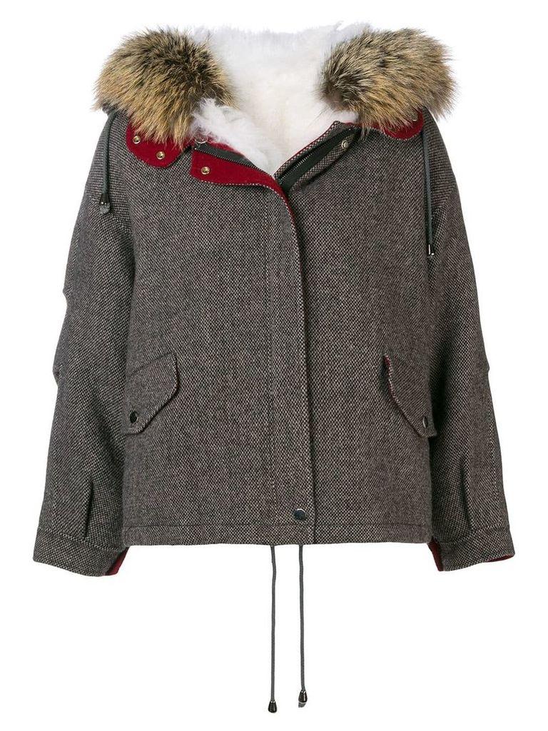 Liska detachable collar jacket - Brown