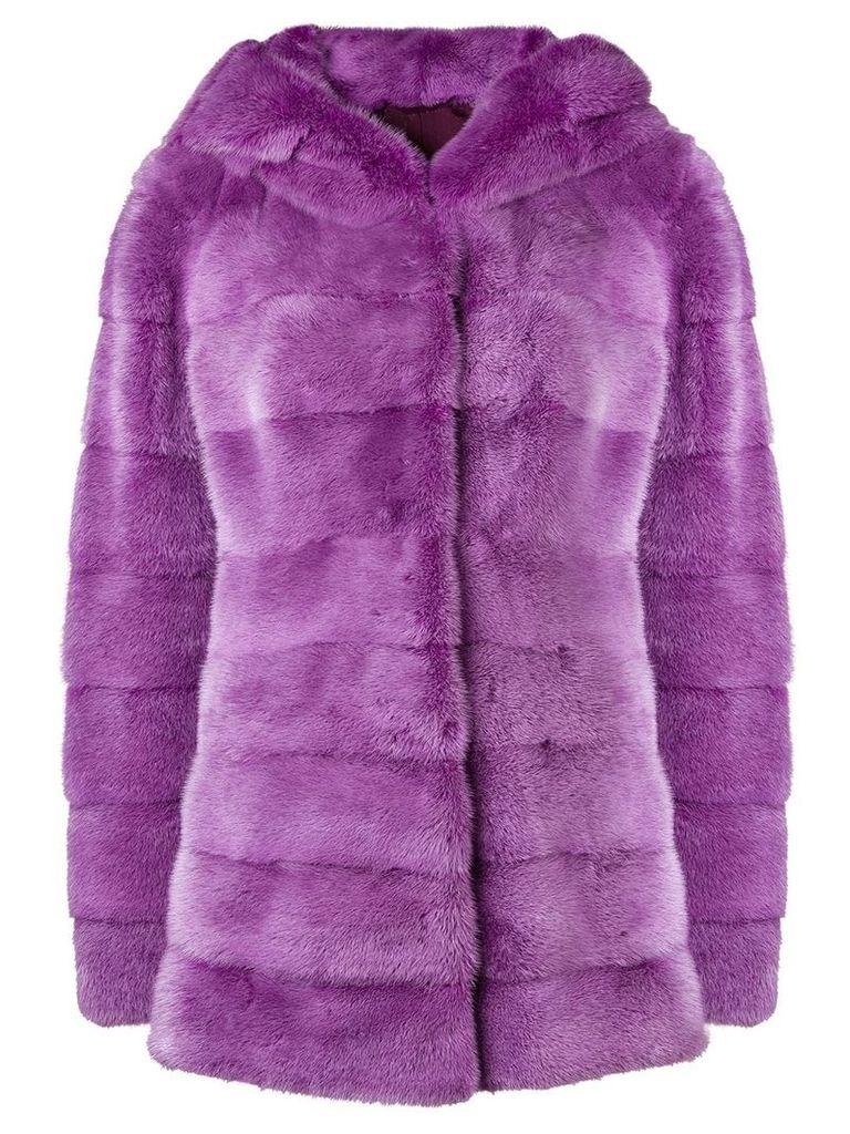 Liska longsleeved hooded jacket - Pink & Purple
