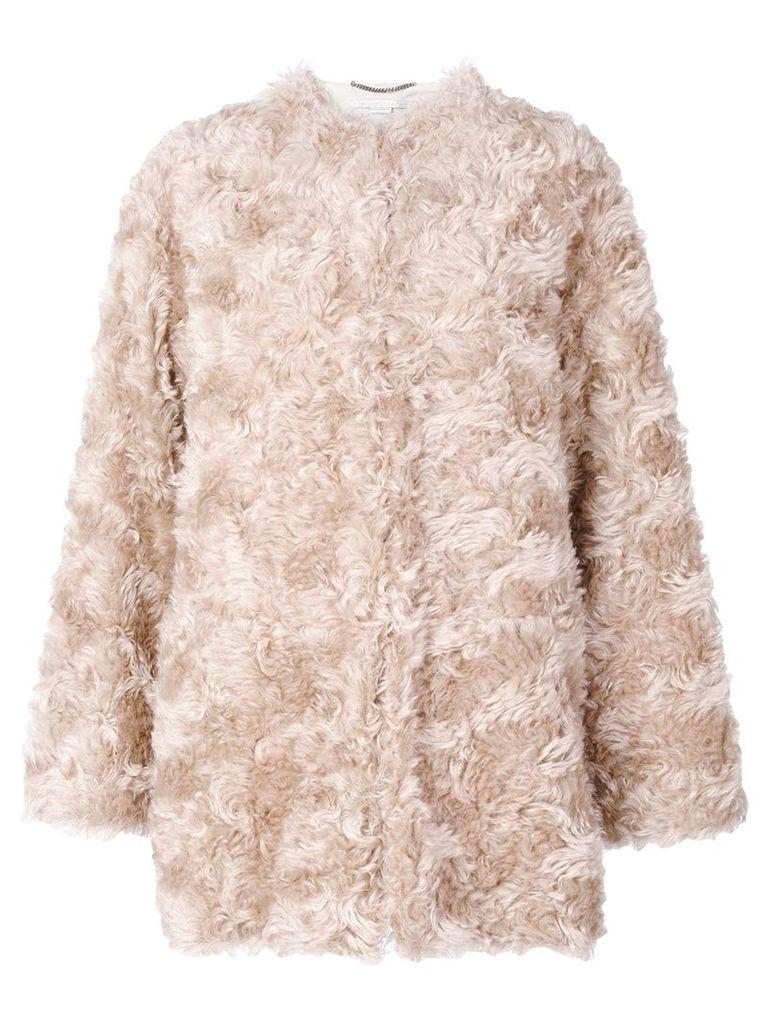 Stella McCartney Fur Free Fur jacket - Nude & Neutrals