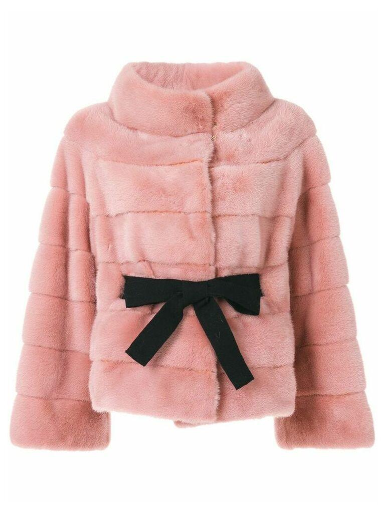 Liska wide collar jacket - Pink & Purple