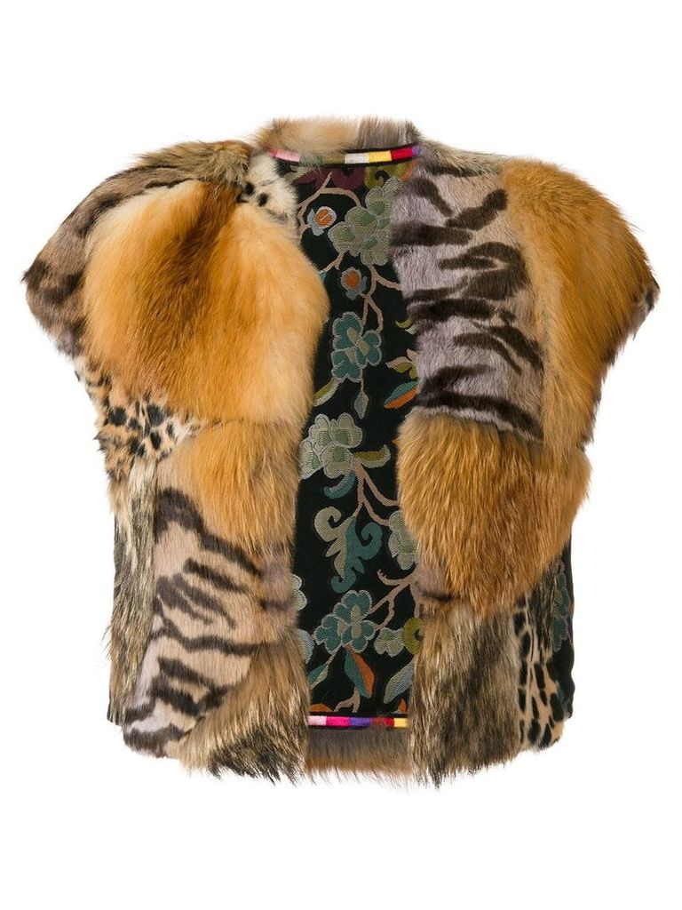 Etro fur jacket - Brown