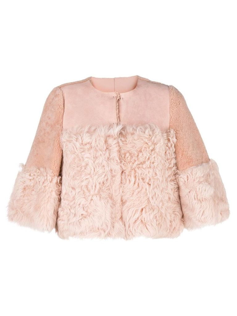 Red Valentino lamb fur jacket - Pink & Purple
