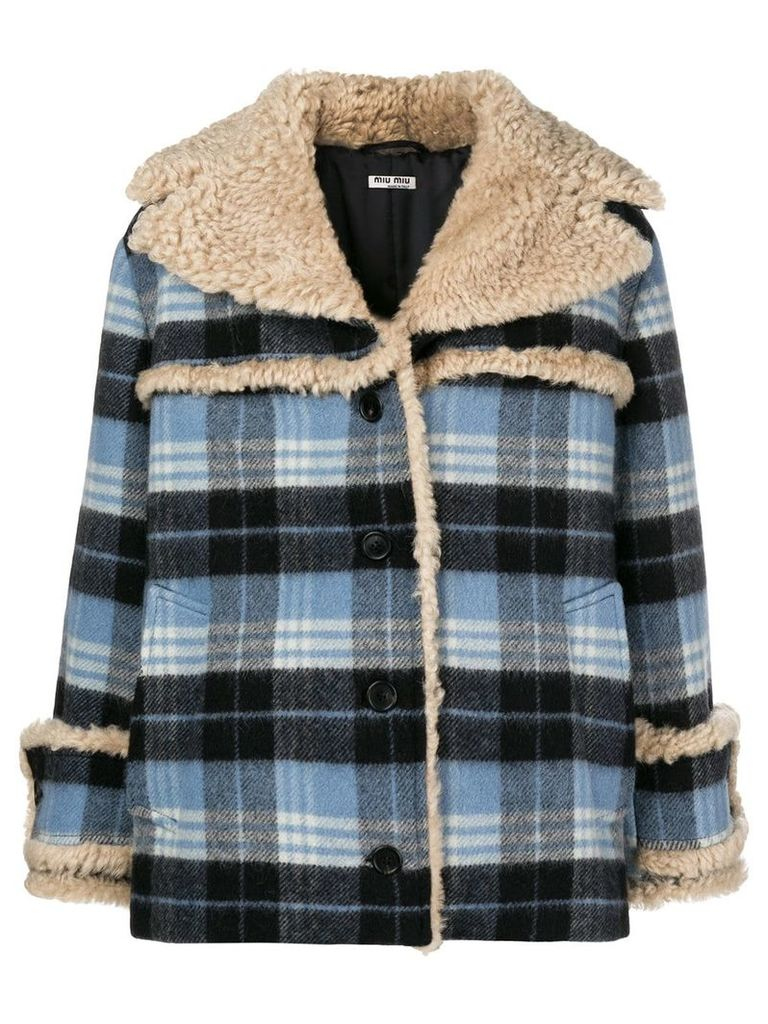 Miu Miu checked jacket - Blue