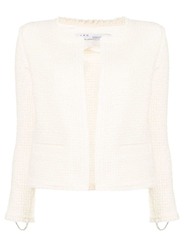 Iro fitted shearling jacket - White