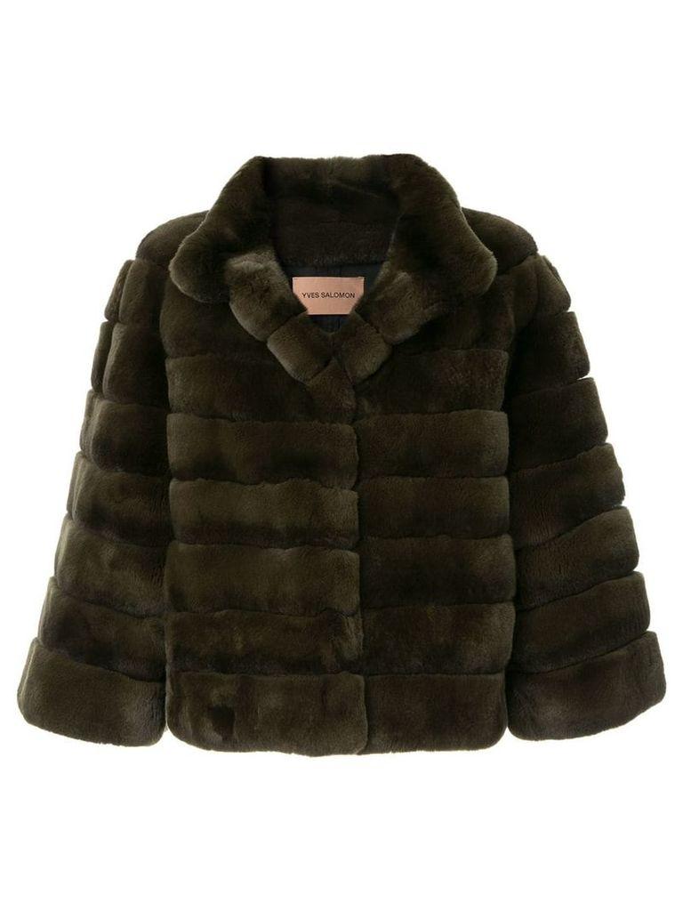 Yves Salomon fur jacket - Green