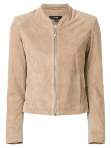 Arma front zip jacket - Neutrals