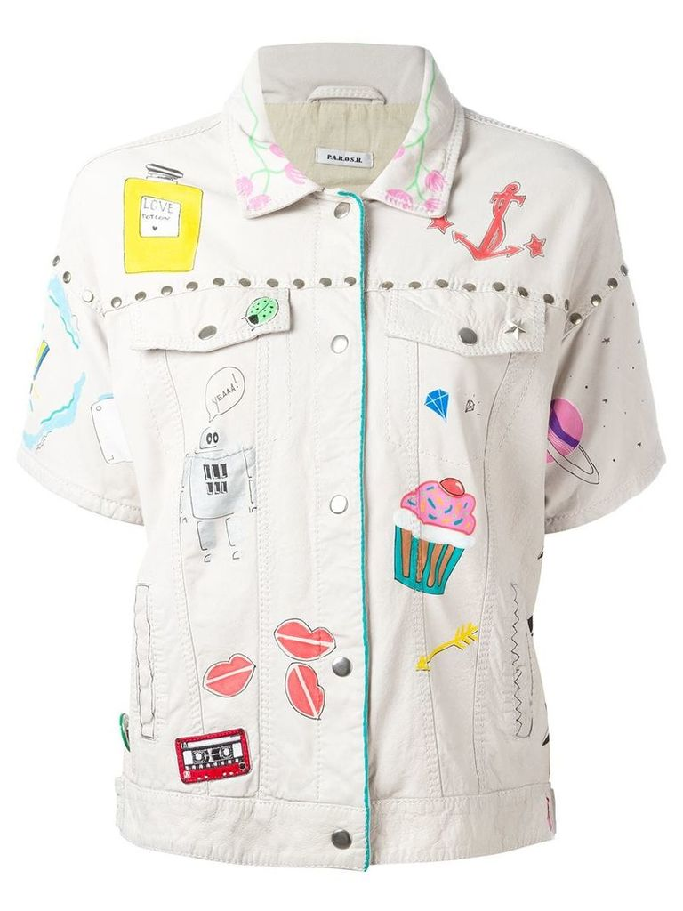 P.A.R.O.S.H. embroidered jacket - Nude & Neutrals