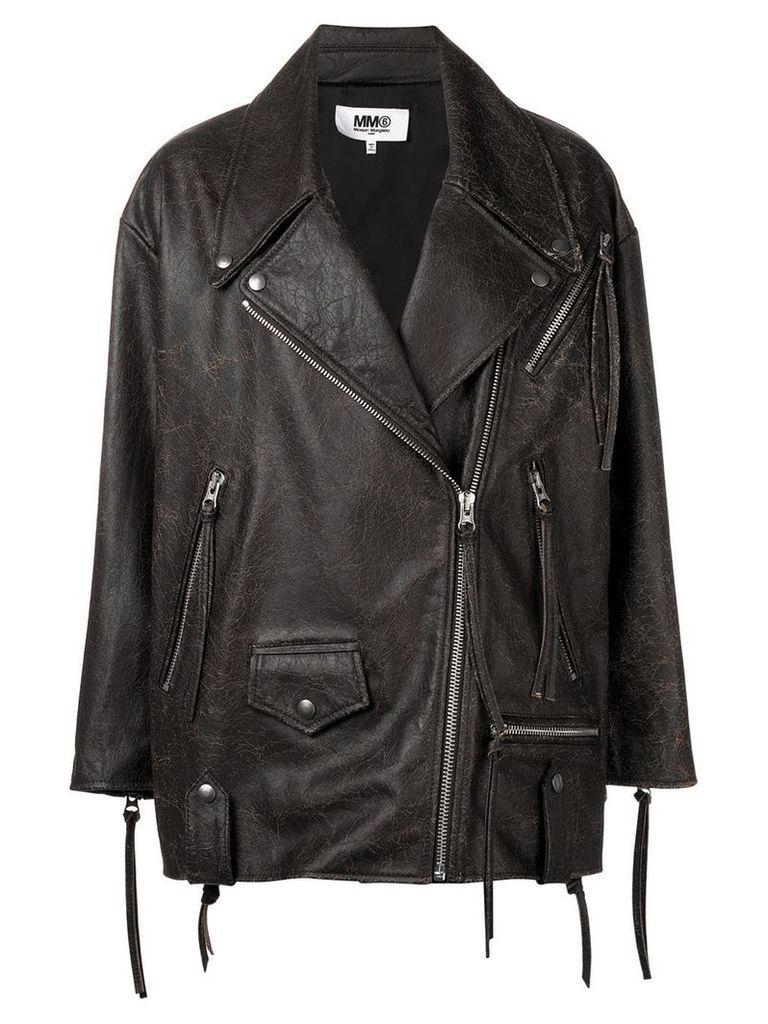 Mm6 Maison Margiela zip fastened jackety - Brown