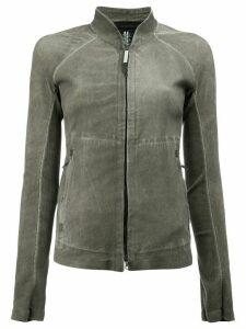 Isaac Sellam Experience high neck zipped jacket - Grey