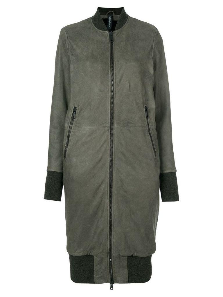 Giorgio Brato longline bomber jacket - Grey