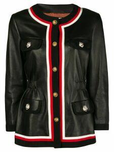 Gucci ribbon trim jacket - Black