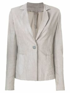 Vanderwilt fitted leather blazer - Grey