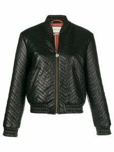 Gucci matelassé bomber jacket - Black