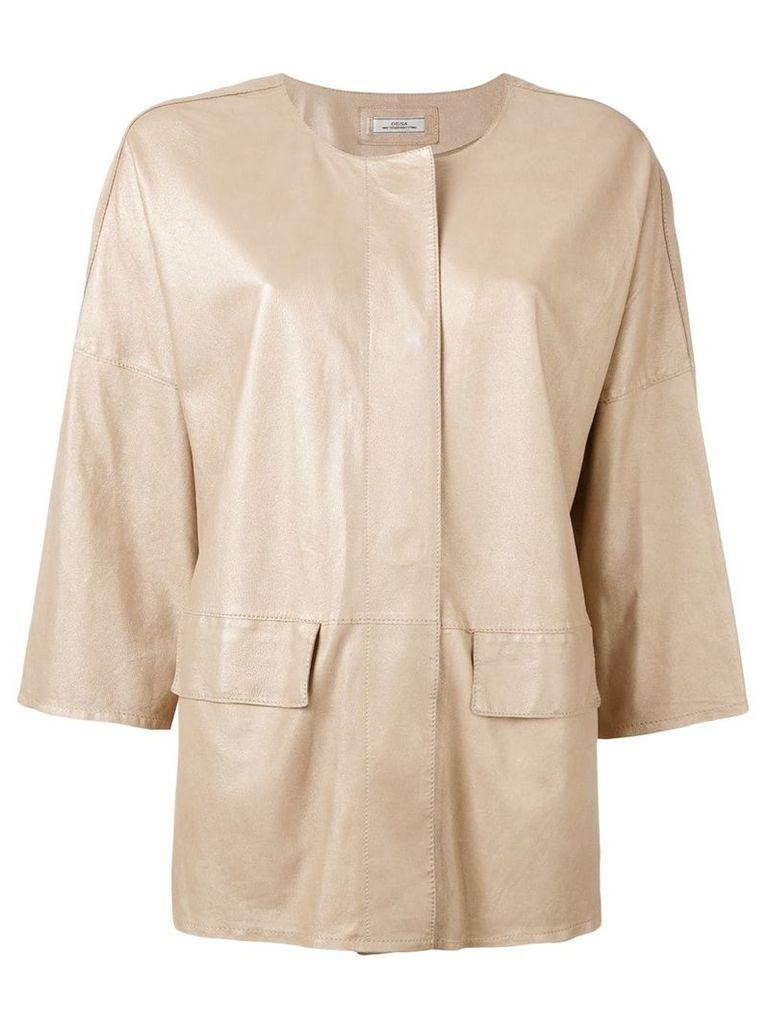 Desa 1972 high shine jacket - Nude & Neutrals