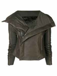 Rick Owens leather biker jacket - Grey