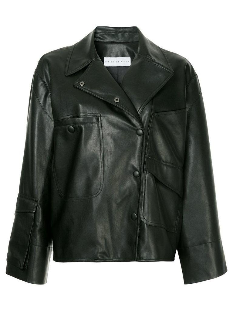 Nino Babukhadia faux leather jacket - Black