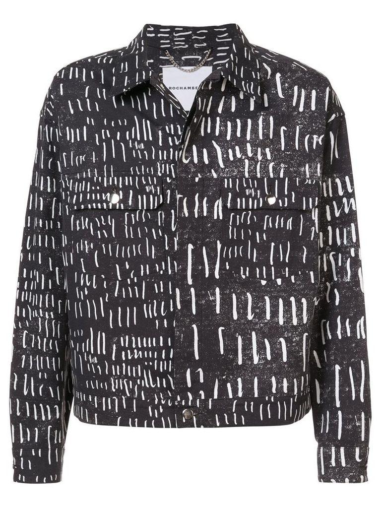 Rochambeau Hatch printed jacket - Black