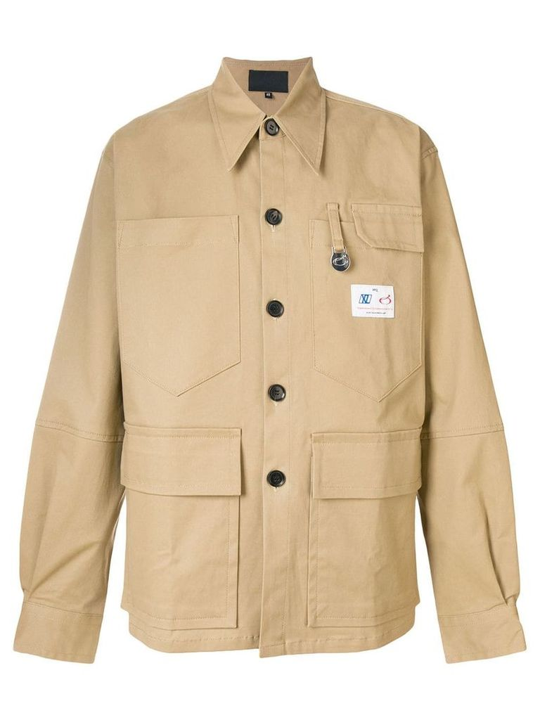 Xander Zhou cargo jacket - Nude & Neutrals