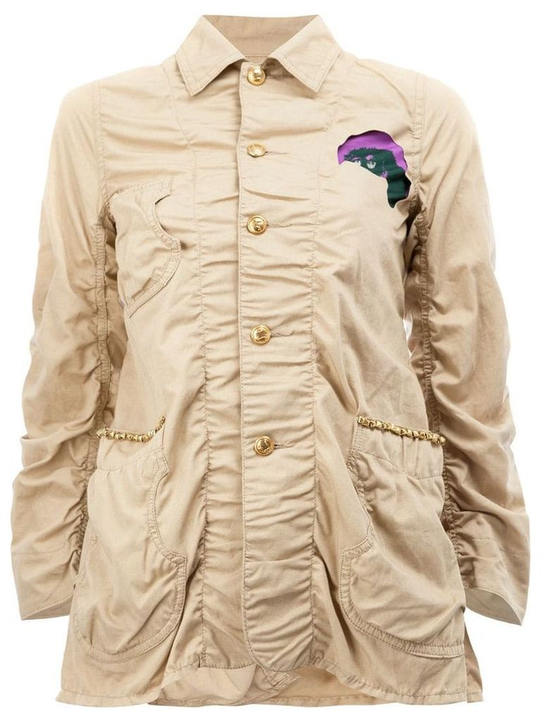 Undercover patched military jacket - Nude & Neutrals