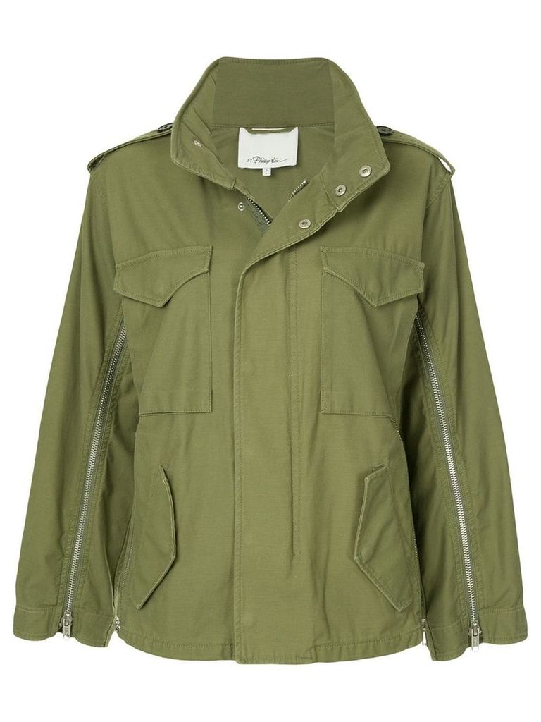 3.1 Phillip Lim zip detail field jacket - Green