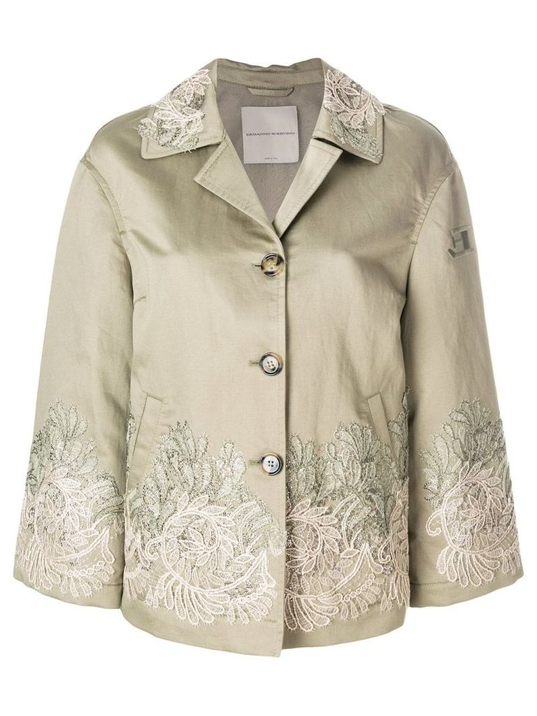 Ermanno Scervino embroidered buttoned jacket - Green
