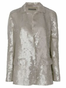 Alberta Ferretti sequin embellished jacket - Metallic