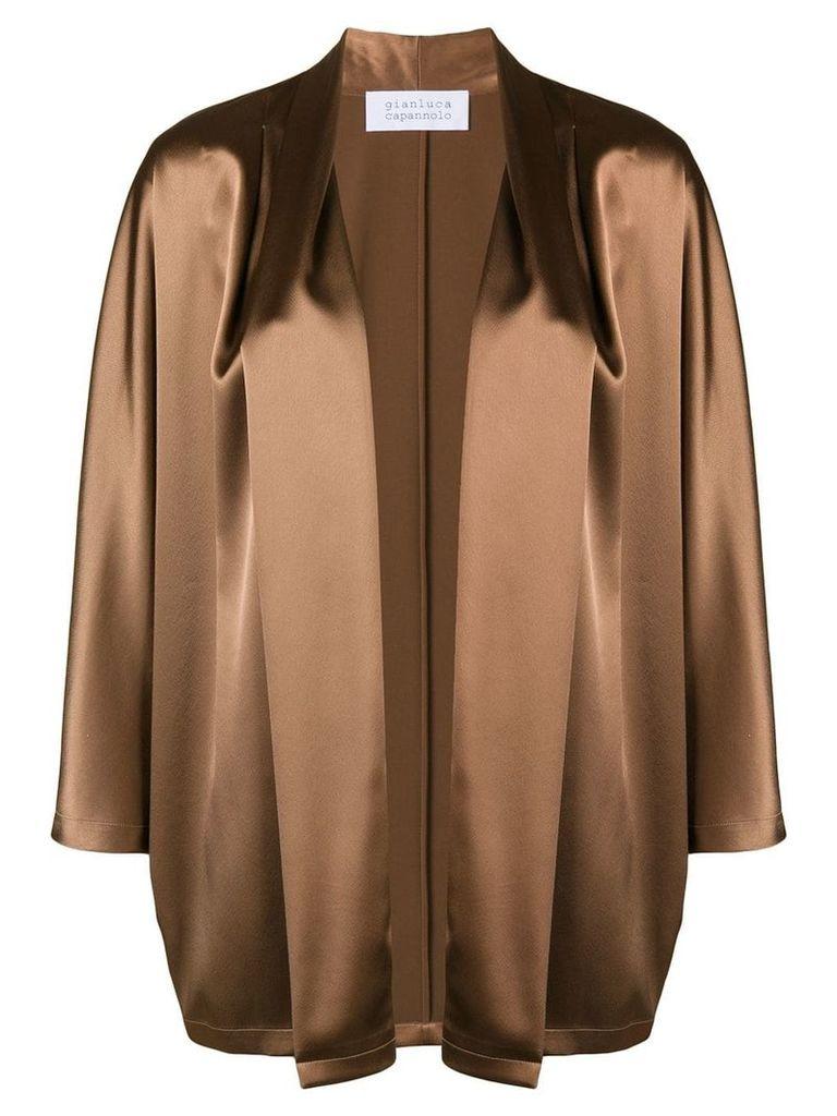 Gianluca Capannolo satin jacket - Brown