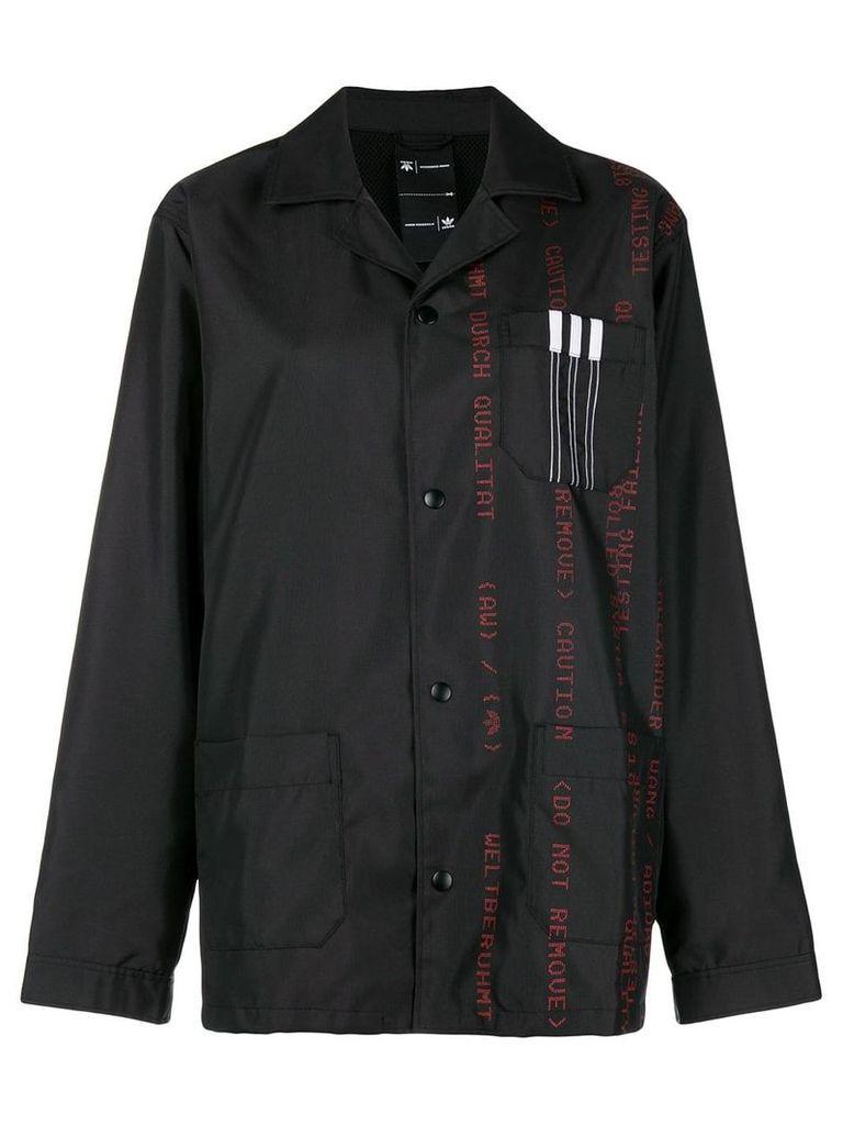 Adidas Originals By Alexander Wang printed canvas jacket - Black