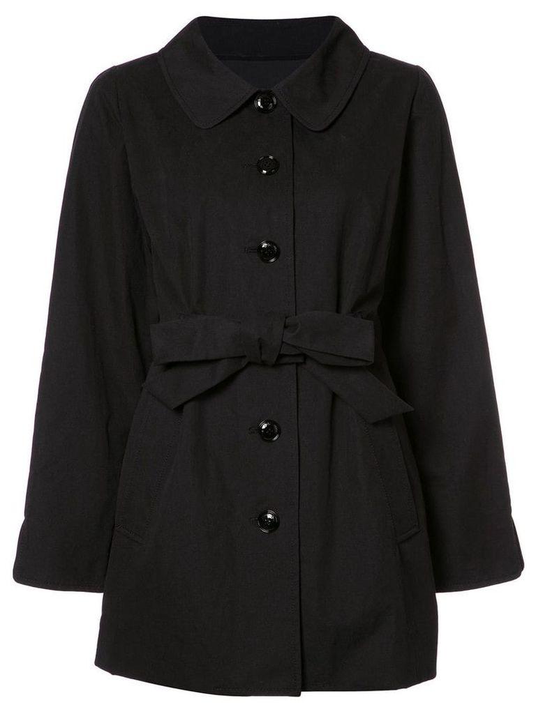 Boutique Moschino belted oversized jacket - Black
