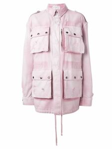 Faith Connexion oversized military jacket - PINK