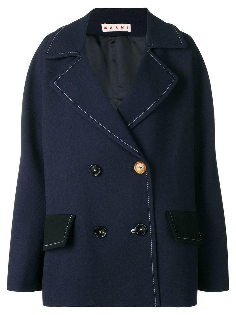 Marni double-breasted jacket - Blue
