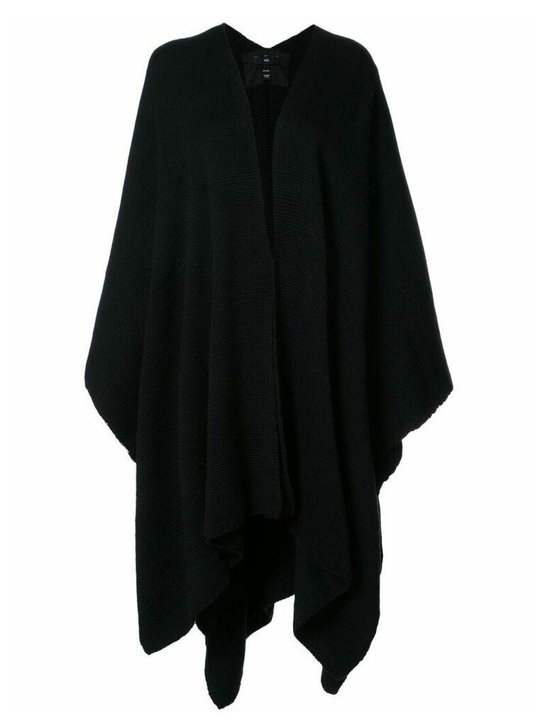 Voz draped V-neck cape - Black