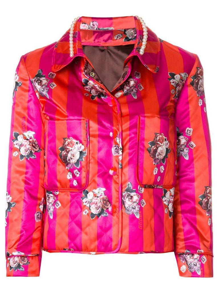 Golden Goose Deluxe Brand printed jacket - Pink & Purple